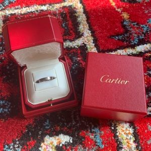 Authentic Cartier Love Ring White Gold Sz 55